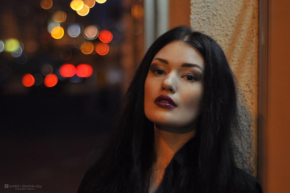 #girl #portrait #beautiful #night #bokeh #50mm #brunette #light #film