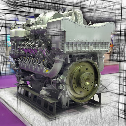 engin industry machine power technology