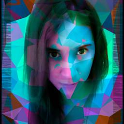freetoedit colorful Colorswap border portrait