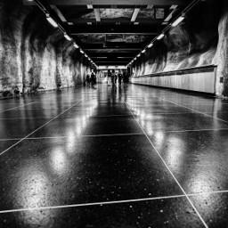 architecture monochrome blackandwhite stockholm underground