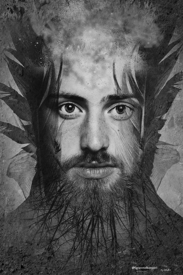 Freetoedit portrait by @tigranmelkonyan1 (I saw this one at freetoedit tag and wow....perfect portrait to edit with...thanks for make it free edit 😊 #quickedit ) Freetoedit twig by @abdarma  #edited #artisticselfie #clipart #blackandwhite #doubleexposure #texture credit belongs to the owner of these pics 😊  NO WEB PIC 😁