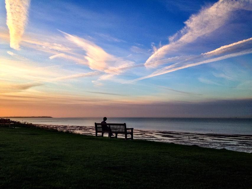 Days end just as all days begin... Hello, goodbye... Hello again. :) #sunset #beach England