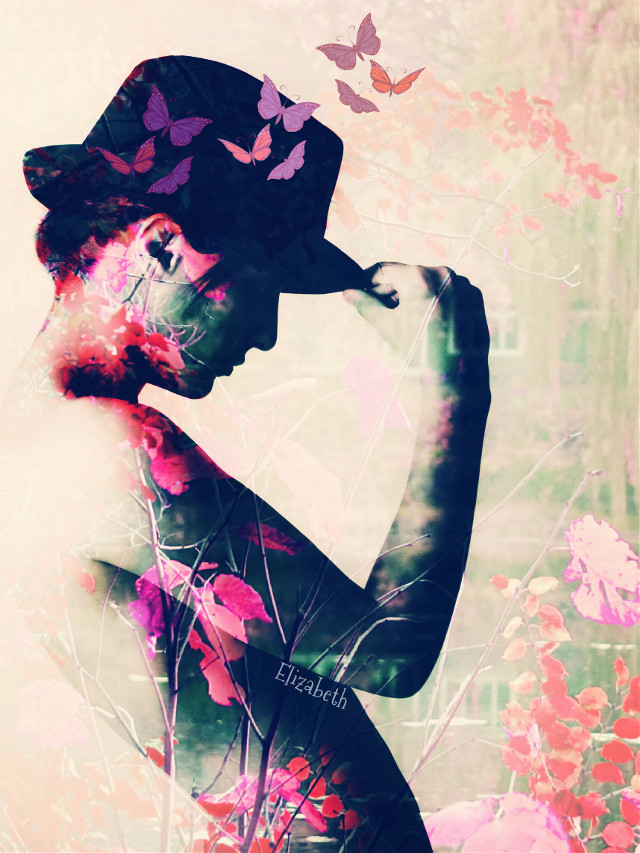 Original from @tigranmelkonyan1  Flowers from @thadjohn  Hope u like it.  #artisticselfie  #colorful #photography #nature #edited #drawtools #editsetpbystep #cliparts #butterflies #photoblending #doubleexposure