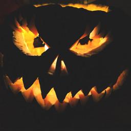halloween pumpkin evil wapautumnvibes
