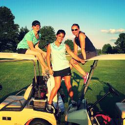 golf golfing fun newjersey girls