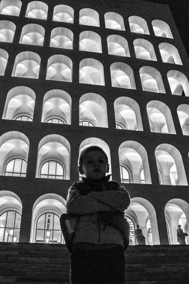 Rome. Black&white. #blackandwhite #rome #street #city #monochrome #cityscape #eur