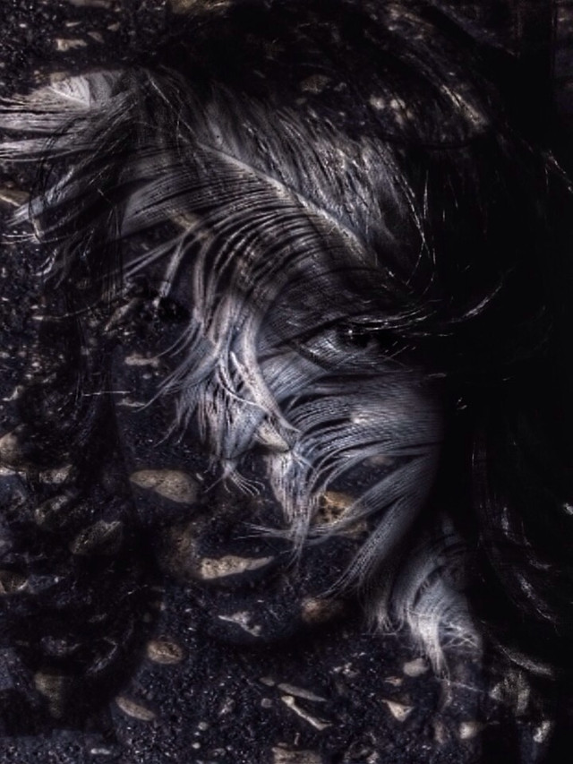 #myedit of @stasweet free to edit #portrait #artisticselfie #undefined #artistic #feather #abstract