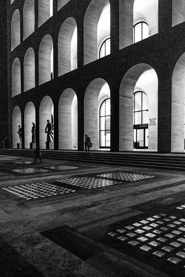 Rome. Black&white. #rome #eur #city #street #photography #blackandwhite