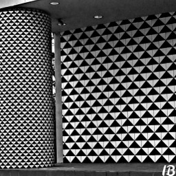 photography wall blackandwhite patterns triangles
