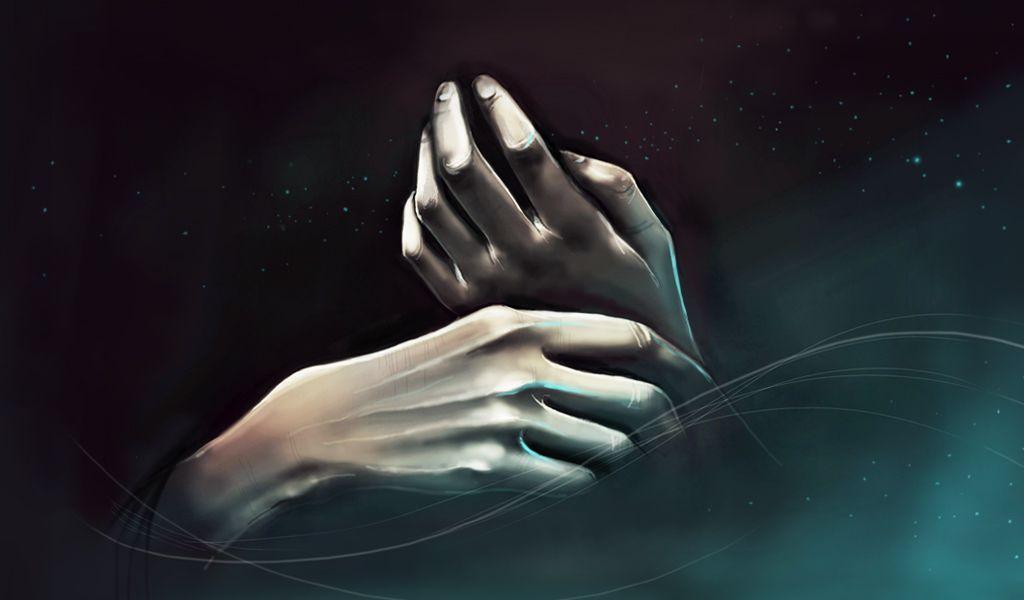 hands digital drawing