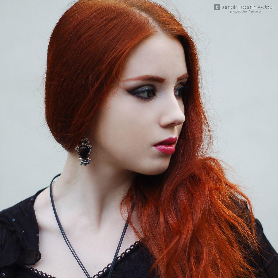 #girl #portrait #perfect #beautiful #beauty #redlips #redhead #redhair #paleskin #amazing #pretty #goth