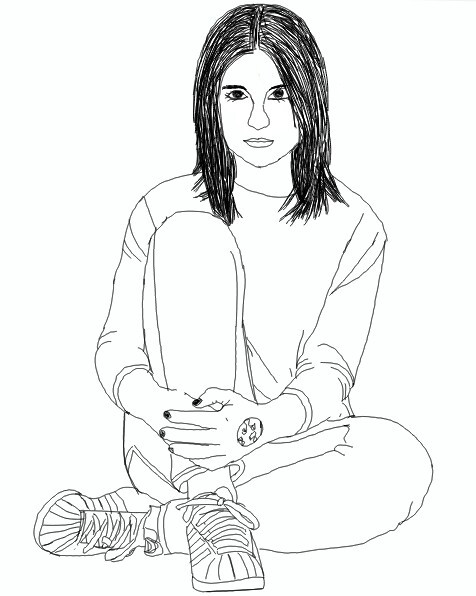 Drawing outlines of melina sophie (blogger) i think this isn't the best drawing but also not the worst one... #drawing   #blackandwhite  #people #sel #selfmade