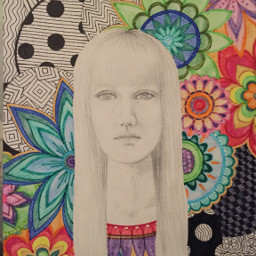 art powerful zentangleportraits zentangle flowers