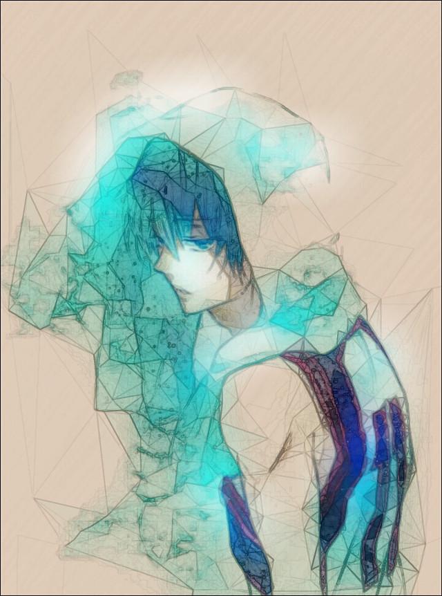 #Anime #retro #popart #colorsplash #colorful #cute #emotions  #manga  #boy  #kuroko  #tetsuya  @ria022