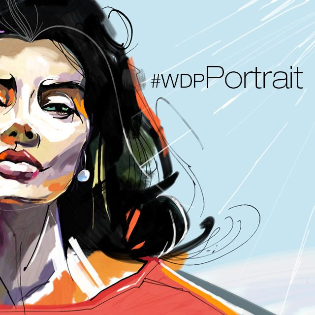 draw a digital portraiture