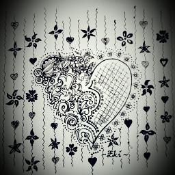 drawing blackandwhite love emotions