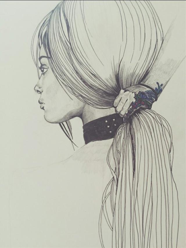 Taddaaa 😄 Do you like ?  #blackandwhite #colorsplash  #emotions #pencilart #freetoedit
