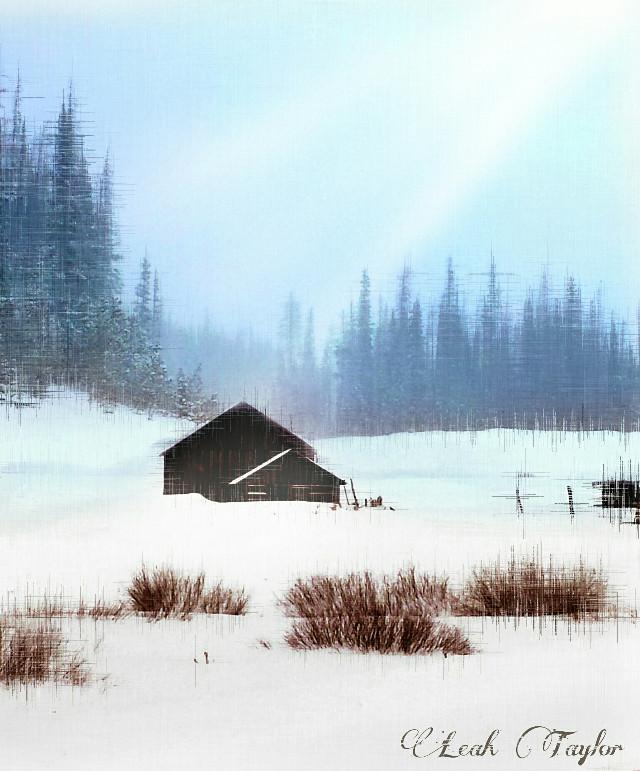 #wapwinterwonderland Cabin in the woods  #snow #nature #photography #peaceful #cabin #winter
