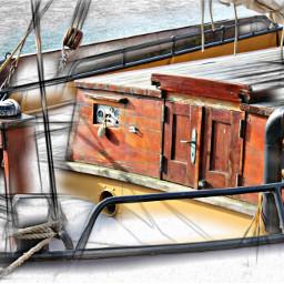 pencileffect sailboat wood craftmenship pencilart