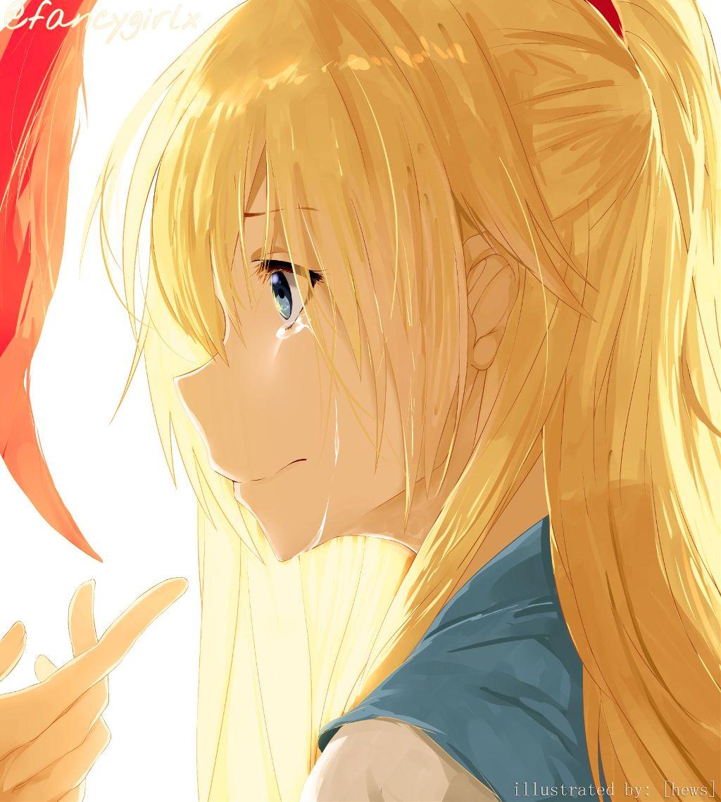 Crying anime girl