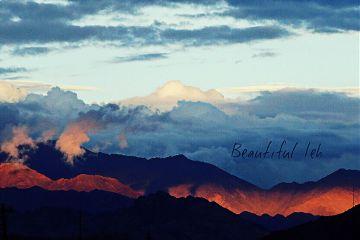 leh ladakh nature mountains sunset