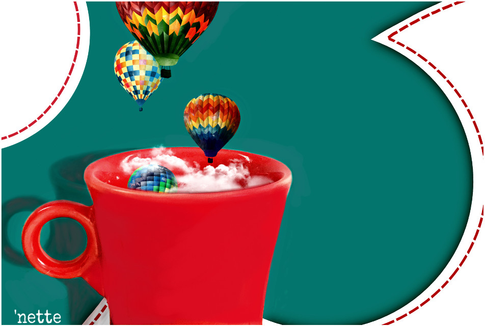 because carol told me to...  #coffeecupfilledwithstuff   #outlineandthensome   #madewithpicsart #drawon #redandturquoise