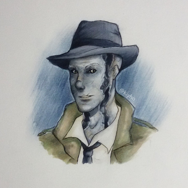 Quick Nick Valentine fanart because I have no time and to much to do #fallout4 #drawing #art #artist #manga #anime #marker #mangaart #animedrawing #mangadrawing #fanart