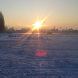 sun cold winter
