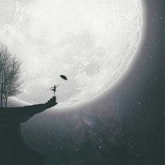 moon freetoedit art surreal