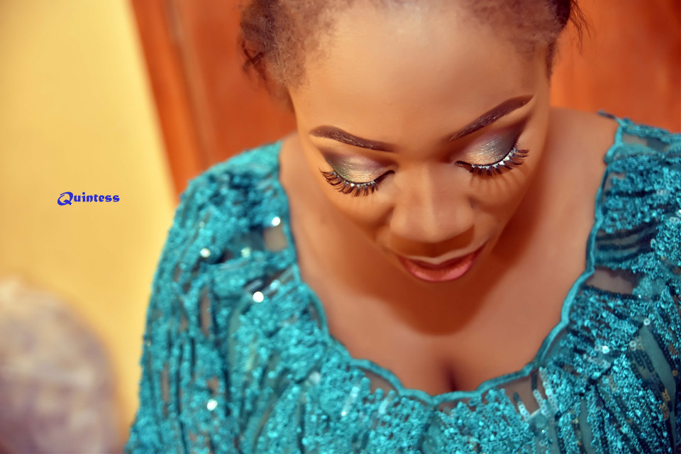 #Bridal #MakeUp in a typical African #wedding. Follow me on #Instagram: @qutetony and @quintessmc for more captivating images.