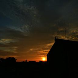 sundown sunset sun sunshine sonnenschein