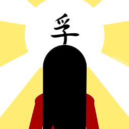 emotions minimalism girl sun ideograms