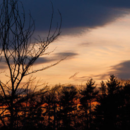 sunset sky colorful nature photography