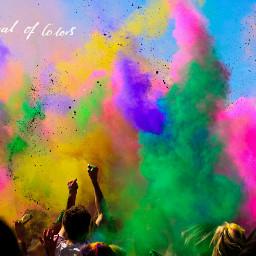 colorful colorsplash festivalofcolors incredibleindia holi