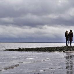 friends walk nature germany northsea