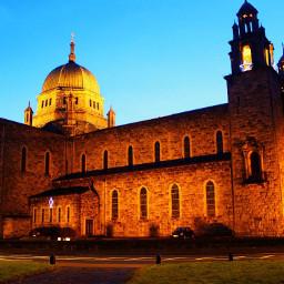 church ireland colorful night light