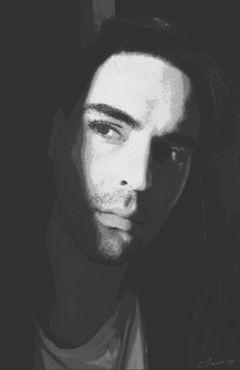 comiceffect artisticselfie blackandwhite photography shadow