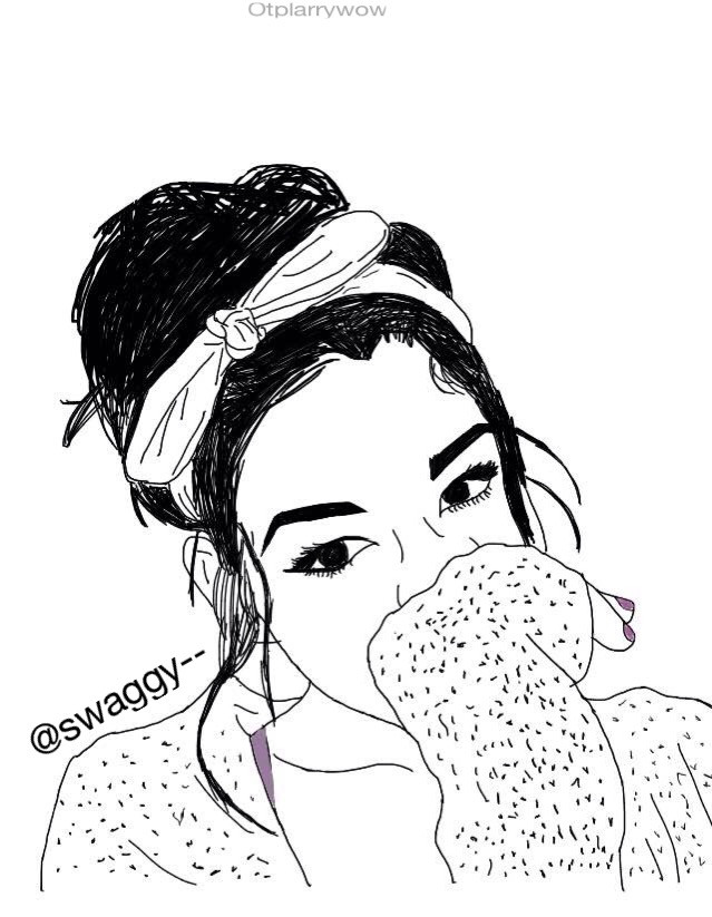 Had fun drawing this girl!! @swaggy--    #outlines #outlineart #outline #drawings #girldrawings