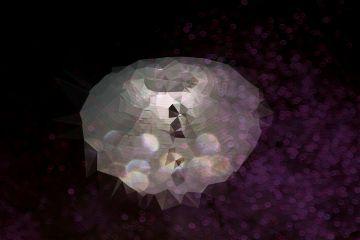 polygon light bokeh