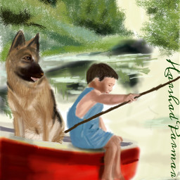 wdpvacation boat child dog fishing