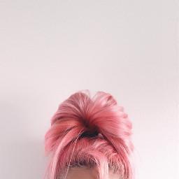 FreeToEdit human girl woman portrait pink