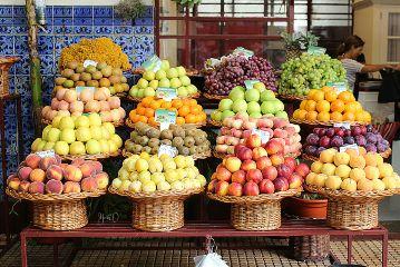 madeira market fruits decoration food