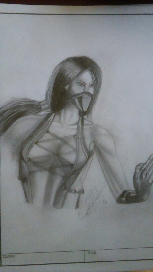 Jade Mortal Kombat 9 #draw  #drawing  #drawingart #pencilart #blackandwhite