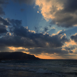 freetoedit sunset sea clouds colors