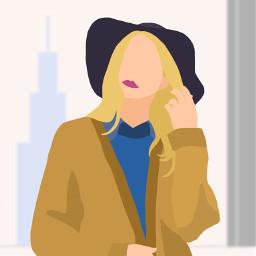 vector girl blonde woman city wdpbtsfashion freetoedit