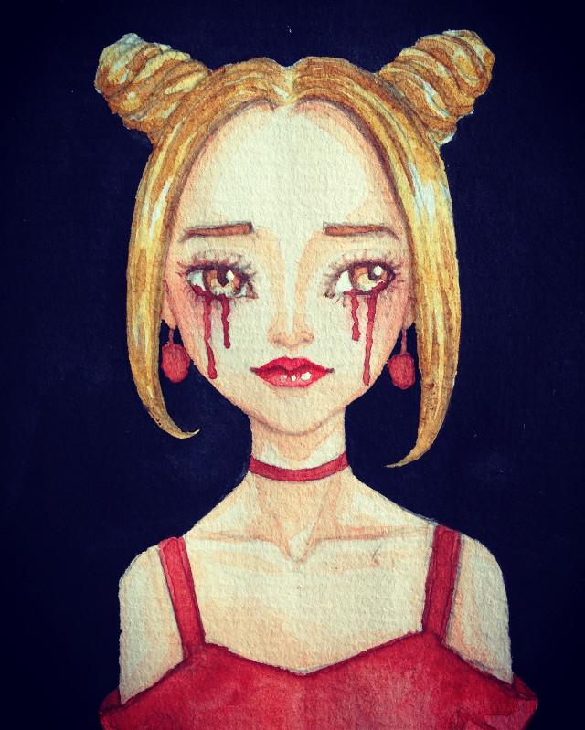 #drawing #girl #hair #FreeToEdit