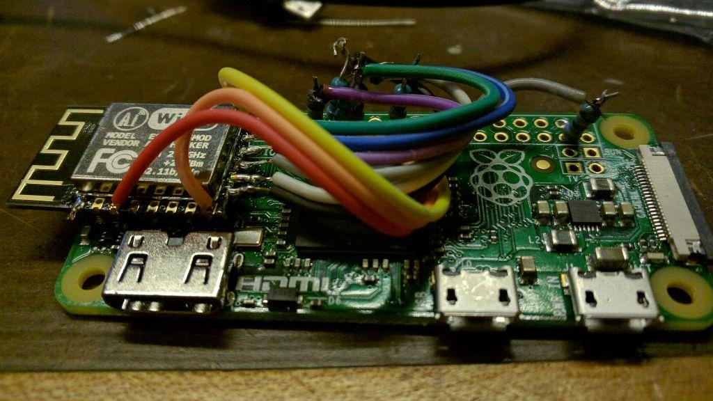 #FreeToEdit Raspberry Pi Zero + ESP-12F WiFi
