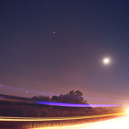 moon stars longexposure edirne