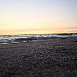 sea waves beach sunset empty freetoedit