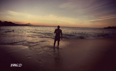sunset beach emotions interesting life